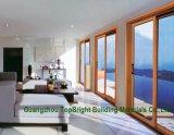 Двойные стекла боковой сдвижной двери на балкон с тепловой изоляции и звуконепроницаемые (CL-D2004)