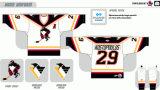 Customized Homens Mulheres Crianças Liga de Hóquei Americana Toronto Wilkes-Barrescranton pinguins 2001-2003 Hóquei no Gelo Jersey
