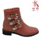 Boots Women Footwear (AB612)最新の優雅なバックルの平らな女性