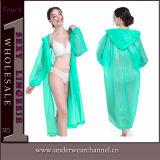 Poncio impermeabile su ordinazione Non-Disposable del cappotto del rivestimento della pioggia del PVC EVA (SK-A306)