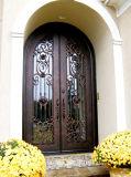 Уникально изготовленный на заказ славная самая лучшая дверь ковки чугуна двойника качества