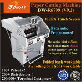 Elektrischer hydraulischer Größen-Papier-Trimmer des programmiertes Steuerautomatischer 670X670mm A2 A3 A4