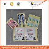 La alta calidad de la etiqueta de papel de impresión de la impresora personalizada impresa etiqueta de la pared