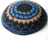Judaica Kippa ebreo Kippot Kippah Kipa DMC Kippah lavorato a maglia filetto