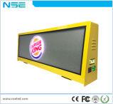 Visualización de LED al aire libre vendedora superior del taxi del alto brillo, 3G que hace publicidad de la visualización de LED de la tapa del taxi P5