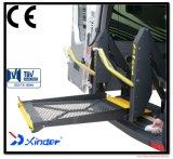 certificado CE WL-D y Hydrulic eléctrico elevador de silla de ruedas para Van y minibús