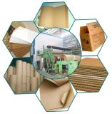 De cartón corrugado de alta velocidad Caja de cartón de papel uso del paquete de la máquina de fabricación de papel