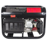 AC Single Phase Output Type Gasoline Generator Set 3kw, Wheels와 Handle를 가진 Portable Generator
