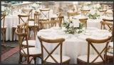 高い89cmの固体ブナかカシ木十字の背部結婚式の庭の背部X十字の椅子