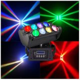 Produits chauds pour vendre en ligne 8 lumières mobiles d'étape d'éclairage du DJ de tête d'araignée blanche de PCS DEL