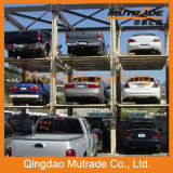 Вертикальная система парковки укладчик парковка оборудование четыре должности Автомобильный подъемник