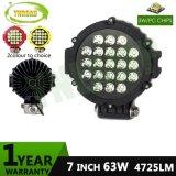 Indicatore luminoso di azionamento automatico esterno nero del punto LED del CREE 7inch 63W