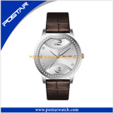 Leather Band를 가진 매혹 Fashion Good Quality Stainless Steel Ladies Watch