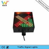 Sinal verde vermelho do sinal do diodo emissor de luz da luz da orientação da estação do pedágio