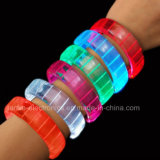 Blinkendes Armband des 2016 Partei-Zubehör-LED mit Firmenzeichen-Drucken (4011)