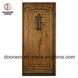 Kundenspezifische Größen-Eintrag-französische Tür-festes Holz-Haustür mit Glas