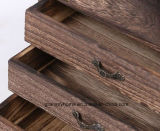3 camadas de madeira sólida Gaveta Teaboard clássico chá Board pu'er Caixa de chá Chá Armário para armazenamento de acessórios