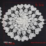 9.5cm breite Polyester-Spitze-Blumen-Änderung- am Objektprogrammzutat-Spitze für Kleid-Zubehör