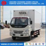 Foton Frigorífico congelador de 4X2 5toneladas pequeña camioneta de carga de camiones refrigerados