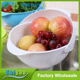 Panier de cuisine Lavage de riz Sieve Flip Plastic Fruit Drain Basket