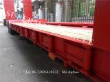 De verlengbare Aanhangwagen Lowboy van het Platform van Lowbed Lowdeck van 2 As Lage Op zwaar werk berekende Semi