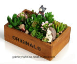 Творческие Многофункциональный сад Pots декоративные Vintage естественных цветов в горшочках сочные растения деревянные сеялки самого высокого качества.