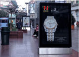 Высококачественный алюминиевый рекламы световые витрины