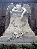 Prezzo all'ingrosso per il monumento piangente di marmo bianco di angelo