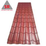 PPGI galvanisé recouvert de feuille de métal ondulé en toiture