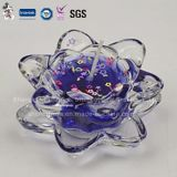 Las fuentes calientes de la decoración de la fabricación de la venta coloreadas vela sacuden certificados de la alta calidad de Glasswith