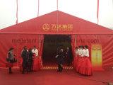 Kundenspezifisches wasserdichtes rotes Segeltuch-Hochzeits-Festzelt-Ereignis-Partei-Zelt