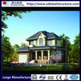 Casa de cristal moderna de la pared de cortina de la casa prefabricada de acero