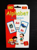 El alfabeto de papel de bolsillo de tarjetas Flash