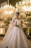 Платье венчания мантии длиннего шнурка Sequins втулки Beaded мусульманское Bridal (BH005)