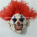 Máscara de palhaço Serra de látex de borracha com pêlo preto - Máscara de Halloween escora de filmes