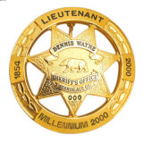 Desafio de prata de alta qualidade Exército Militar Badge Corda Exército de alumínio