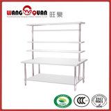 棚上の単一のデッキが付いているステンレス鋼のワークテーブル