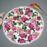 Cobertor redondo do piquenique da roupa da tabela de Microfiber do projeto pequeno da flor
