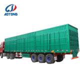 Ladung-halb Traktor-Schlussteil-Kasten-Schlussteil 3 AxlesVan Truck Trailer beiliegender