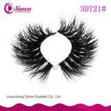 Ciglio naturale della sferza 3D dei capelli di alta qualità