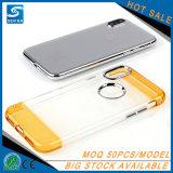 Cassa di alluminio del telefono di colore TPU della miscela del tasto del metallo per il iPhone X
