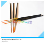 6PCS Wooden Handle Nylon Liner Hair Artist Brush in pvc Bag voor Painting en Drawing (kleur Black)