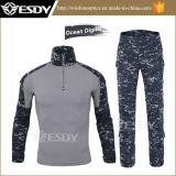 Uniforme militar del ejército del juego uniforme al aire libre táctico del camuflaje de Digitaces del océano
