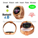 Reloj elegante de la pantalla redonda con el ritmo cardíaco (K89)