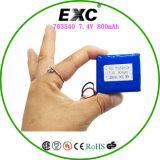 電池の工場李イオン電池703540 -2s 7.4V 800mAh電池のパック