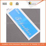 L'oscillation d'impression d'étiquette de papier de tissu a personnalisé l'étiquette en plastique de coup de vêtement