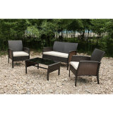 Simple Salon Bois Sofa Set Garden Patio Mobilier d'extérieur (FS-4115 + FS-4116 + FS-4117)