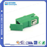 Adaptateur LC à fibre optique verte avec obturateur