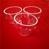Het hoog Gesmolten Glas die van het Kwarts Petrischaal smelten