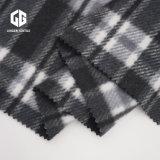 Classic Noir et Blanc Vérifier tissu tissu de laine tricotés Terry